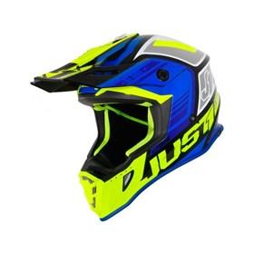 Capacete Just1 J38 Blade - Azul Amarelo Flúor Preto
