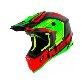 Capacete Just1 J38 Blade - Vermelho Verde Preto