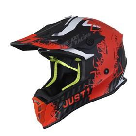 Capacete Just1 J38 Mask - Laranja Flúor Titânio Preto