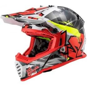 Capacete LS2 Fast MX437 Crusher Preto Vermelho
