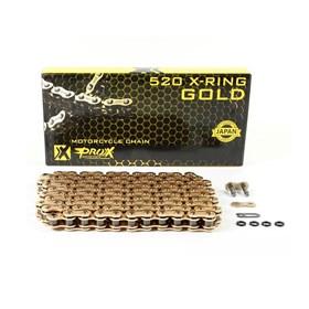 Corrente ProX 520X120 - X-Ring Com Retentor - Dourada