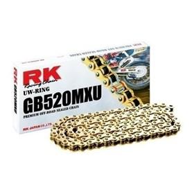 Corrente RK MXU 520X 120H MX-GB UO - Honda Yamaha Suzuki