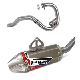 Escapamento Foco Strong F1 TTR 230 - Titânio Alto Brilho
