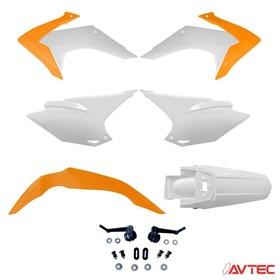 Kit Plástico Avtec CRF 230 15/18 - Laranja Branco