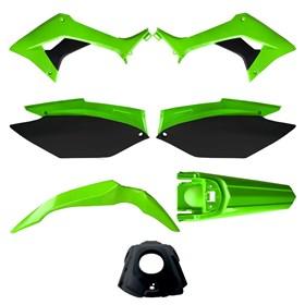 Kit Plástico Avtec CRF 250F - Verde Preto