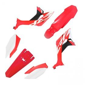 Kit Plástico Biker Evo CRF 250F - Vermelho Branco