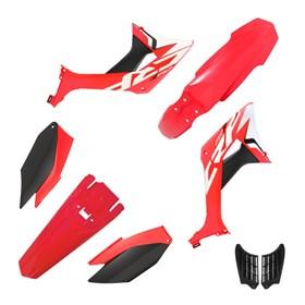 Kit Plástico Biker Evo CRF 250F - Vermelho Preto