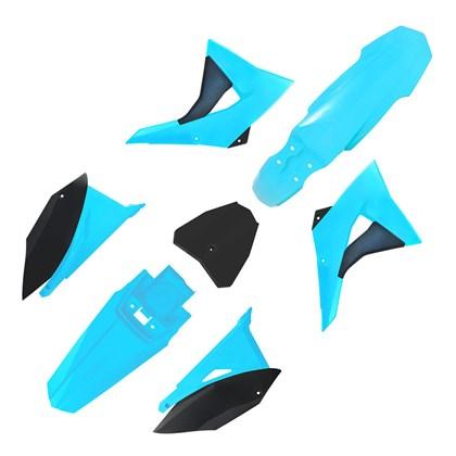 Kit Plástico Biker Next CRF 230 08/19 - Azul Neon Preto