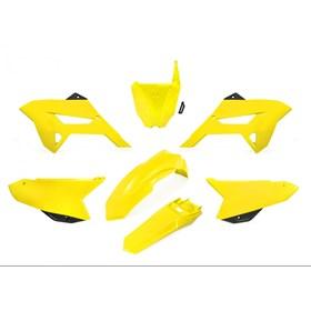 Kit Plástico Biker R1de CRF 230 08/18 - Amarelo Neon