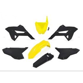 Kit Plástico Biker R1de CRF 230 08/18 - Preto Amarelo