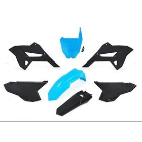 Kit Plástico Kiker R1de CRF 230 08/18 - Preto Azul Neon