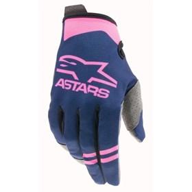 Luva Alpinestars Radar 21 - Azul Rosa Flúor