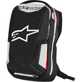 Mochila Alpinestars City Hunter Tech Backpack - Preto Branco Vermelho