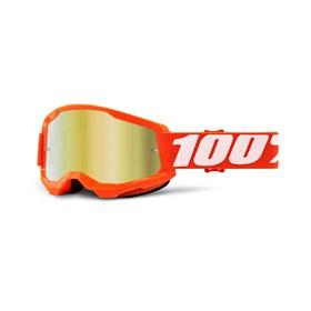 Óculos 100% Strata 2 Lente Espelhada - Laranja