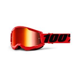 Óculos 100% Strata 2 Lente Espelhada - Vermelho