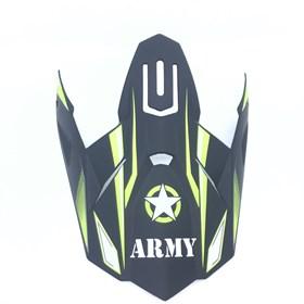 Pala de Capacete Army Patriot - Preto Amarelo Flúor
