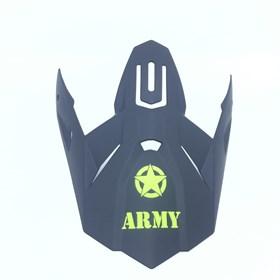 Pala de Capacete Army Patriot - Preto Fosco