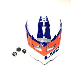 Pala de Capacete LS2 MX700 Subverter Evo Krome Glory - Vermelho Azul Branco