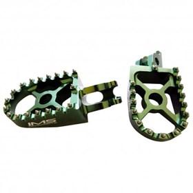 Pedaleira IMS em alumínio KXF 250 e 450 Verde