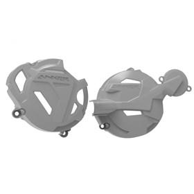 Protetor da Tampas de Motor Anker CRF 250F - Cinza