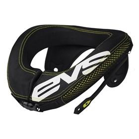 Protetor De Pescoço EVS R3 - Preto Amarelo Neon